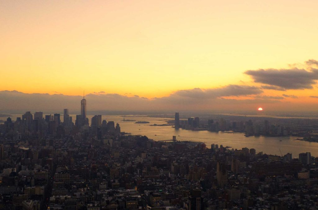 Pôr do sol pelo mundo - Top of the Rock, em Nova York (Estados Unidos)