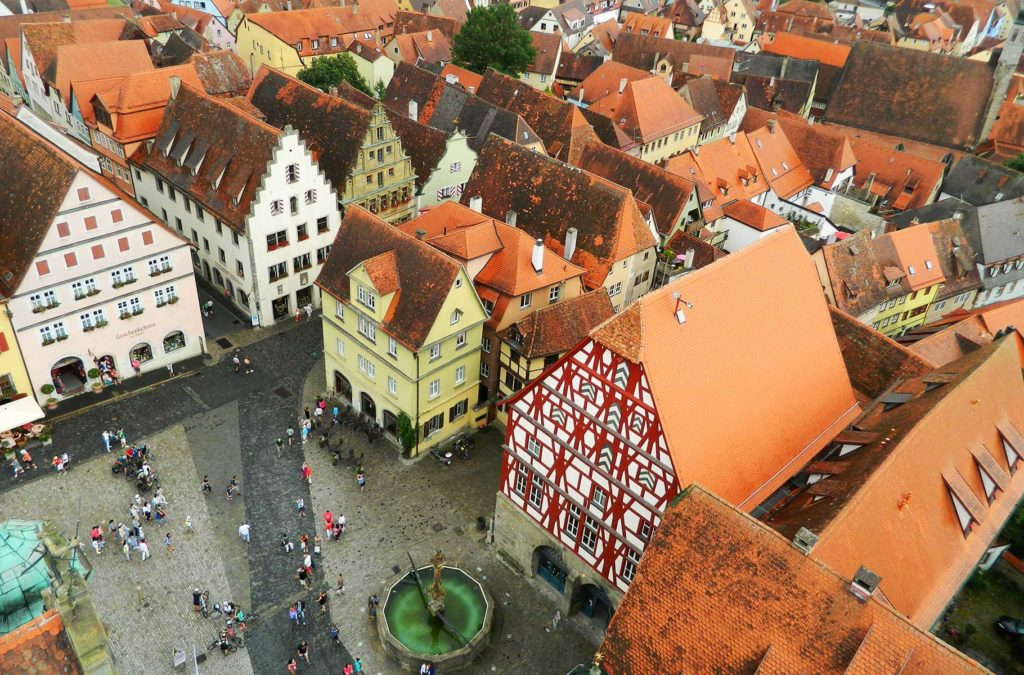 Rothenburg vista do alto da Rathausturm, a torre da prefeitura