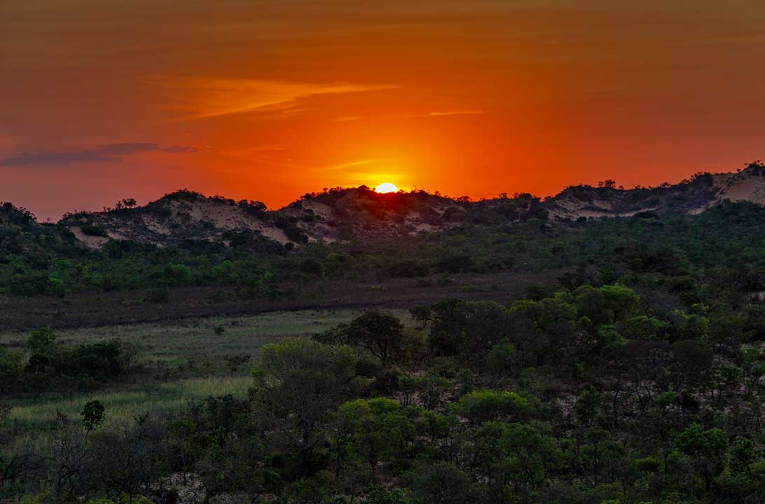 Fotos do Jalapão - Pôr do sol visto das dunas