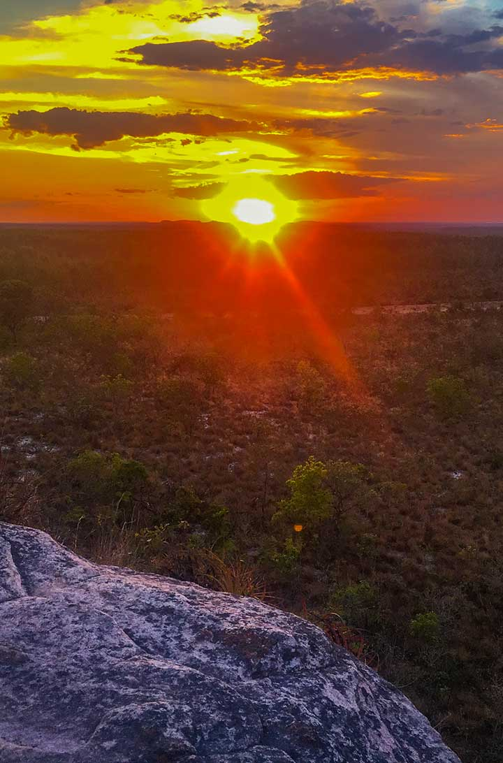 Fotos do Jalapão - Pôr do sol visto da Pedra Furada