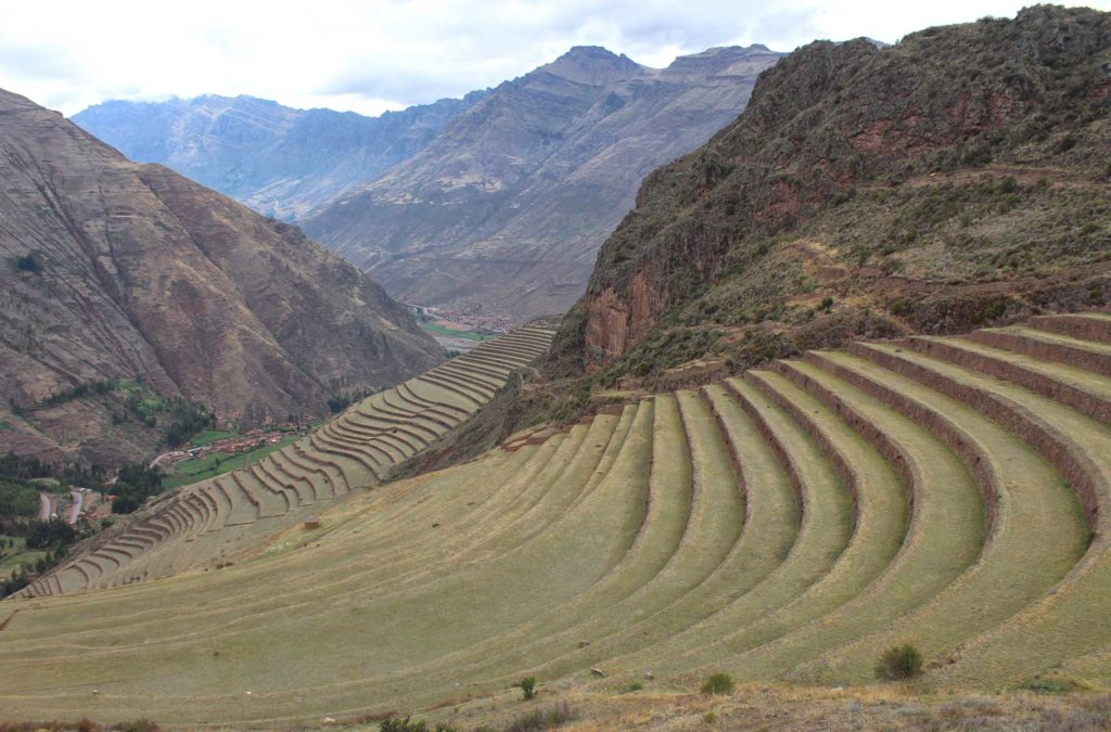 Vista do sítio arqueológico de Pisac, no Vale Sagrado